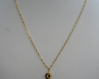 """Letter """"L"""" Intial Pendant with Chain  18"""""""