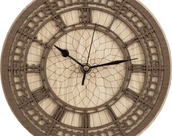 Big Ben Clock in wood - (Clock of Elizabeth Tower)