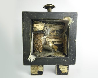 Poetry Assemblage, Thoreau Assemblage Art