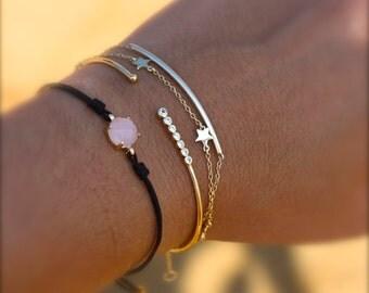 STARS BRACELET- Gold plated silver bracelet- little stars bracelet- silver star bracelet-minimalist bracelet