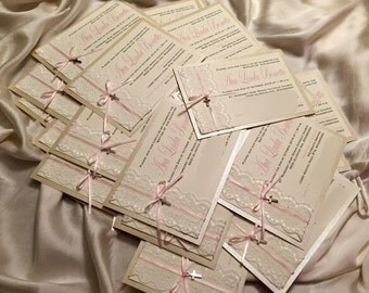 Confirmation, Communion, Baptism invitation, Angelversary, Bridal Shower, Milestone Birthday, 1st Birthday. Handmade invitations