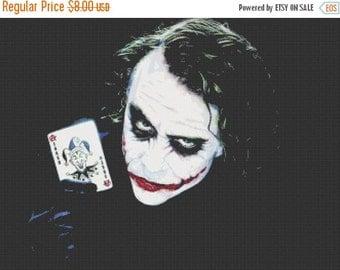 ON SALE batman the joker cross stitch - 331 x 248 stitches with AIDA 14 -  V026