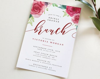 bridal shower brunch invitation bridal shower invitation brunch wedding shower invitation floral shower - Wedding Shower Invites