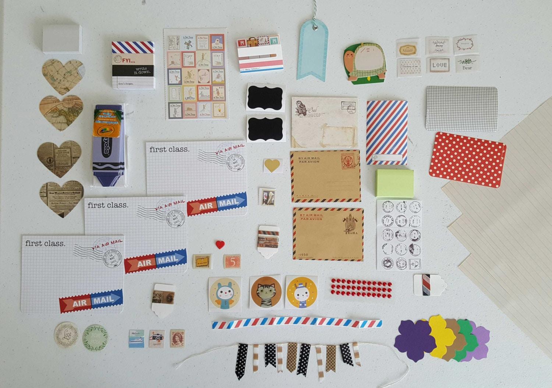 Pen Pal Kit. Paper Supplies. Snail Mail By