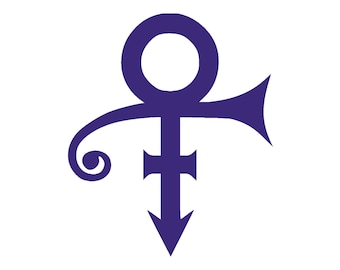 PRINCE Symbol Vinyl Window Decal Pick your size and color