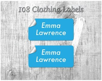 Camp Labels, Stick On Clothing Labels, Kids Labels, Custom Labels, Name Labels, School Labels, Personalize Labels
