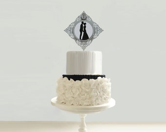 Vintage Victorian Wedding Cake Topper - #18 - 6 in. Wide