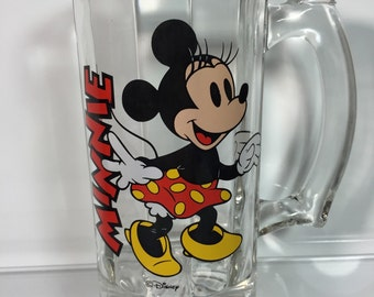 Vintage Walt Disney Minnie Mouse Collectors drinking heavy glass mug