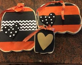 Set of 3 pumpkins