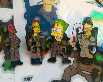 The Simpsons x Ghostbusters Pin Set