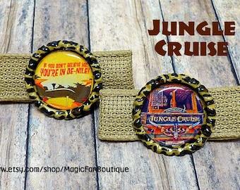 Jungle Cruise Disney Hair Clips- Disney Barrette- Disney Bow- Walt Disney World Bow- Disneyland Bow- Disney Hair Bow- Disney Accessories