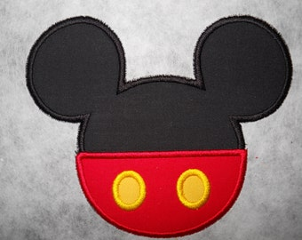 Made to order ~ Mr Mouse with Pants iron on or sew on applique