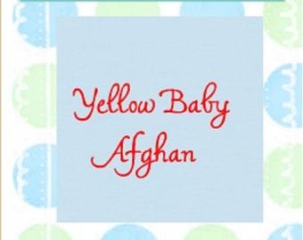 Crochet Yellow Baby Afghan Blanket Blanket Crib Blanket Made to Order