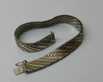 835 silver bracelet L21cm wrist 60/70s SA208