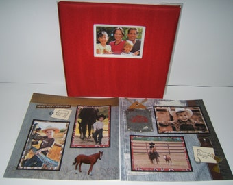 Horse Scrapbook Album - Premade Horse Scrapbook Album - Horse Photo Album - Premade Horse Photo Album - Ranch Album - Farm Scrapbook