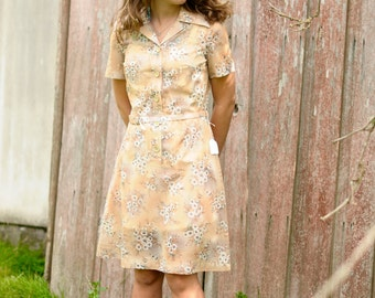 vintage womans floral dress