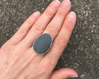 Custom Beach Stone Ring