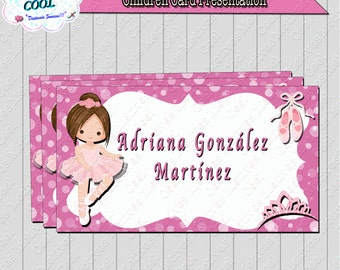 Presentation card, business card kids, Ballet, Ballet Dancer