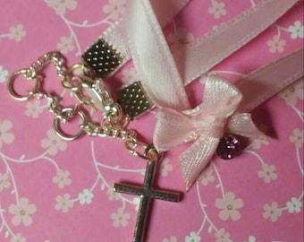 Pink Bow Choker