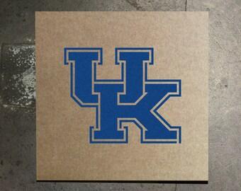 Kentucky Wildcats UK Logo Stencil - Cardboard