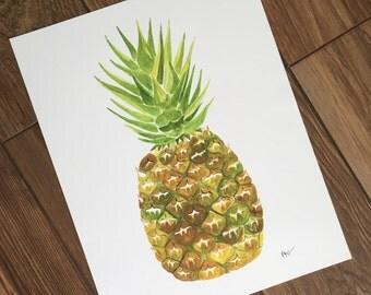 Pineapple 11x14 Print