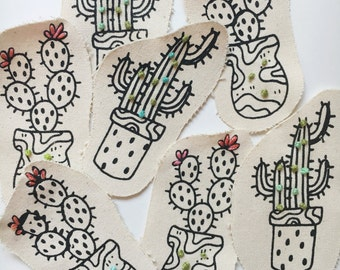 Cactus Patch (Hand Embroidered)