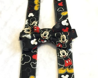 Mickey Mouse Bow Tie and Suspender Set