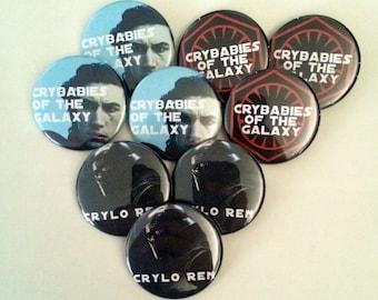 "Crybabies of the Galaxy - 1.5"" pins"