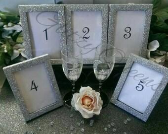 Glitter Frames // Table Number Frames // Wedding Decor // Frames // Table Numbers // Sparkly // Glitzy // Picture Frame // Photo Frame