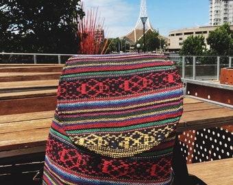 Bohemian hand woven backpack
