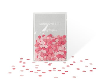 Valentines day pink mini confetti!