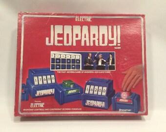 Vintage Electric Jeopardy Board Game published by Pressman c. 1987