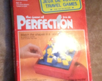 Perfection game.  Vintage 1991 by Milton Bradley.