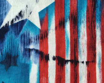FF118 Timeless Treasures (9 HALF yards available) Patriotic Fabric