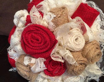 Burlap Bouquet Package