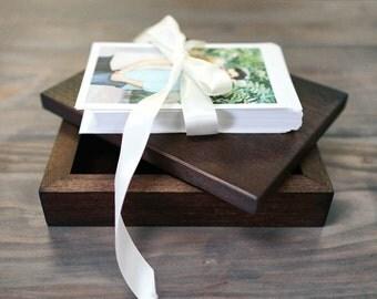 Small Keepsake Photo Box, Wooden Photo Box, Wedding, Proof Box