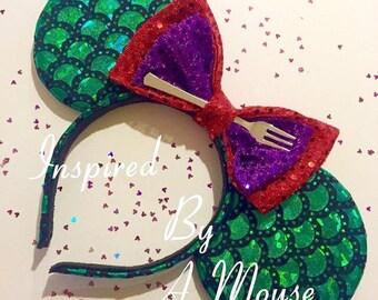Little mermaid inspired mickey ears