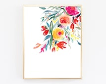 Printable flowers, Digital Download Art, Art Prints, Large Wall Art, Printable Art, Downloadable Prints, Top Selling Shops, Floral Wall Art