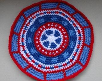 Red, White & Blue Tapestry Crochet Mat