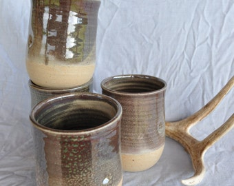 Ceramic Tumbler Set, Handmade North Carolina Pottery.