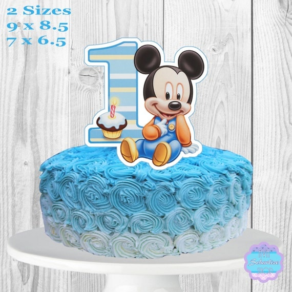 Cake Toppers Baby Mickey : Baby Mickey Mouse Cake Topper PRINTABLE You Print