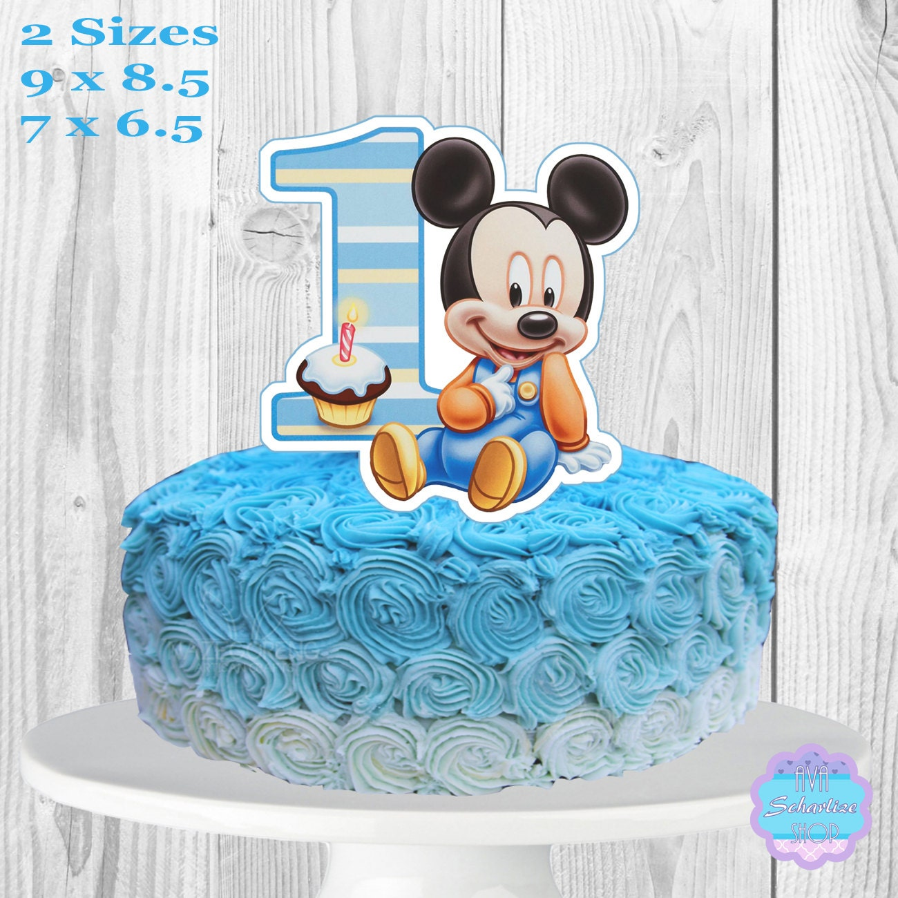 Baby Mickey Mouse Edible Cake Decorations Minnie Mouse Cake Topper Etsy