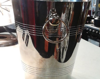 french champagne bucket, vintage champagne bucket