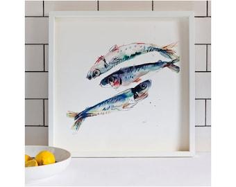 Mackerel: Giclée Print of illustration by Laura McKendry