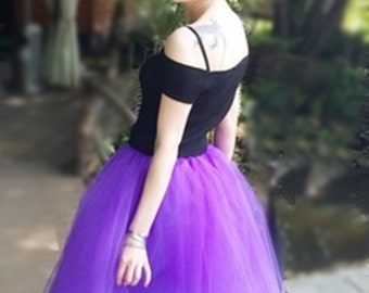 Purple tulle skirt Tulle circle skirt  Purple tutu Tulle Women tulle skirt Princess skirt Short skirt  Purple circle skirt 50s style skirt