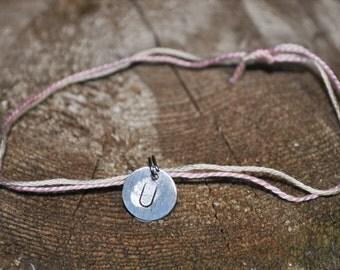 Personalized Jewelry, Personalized Bracelet, Monogram U Charm, Custom Jewelry, Initial U Jewelry, U ID Bracelet, Stamped Bracelet, Gifts