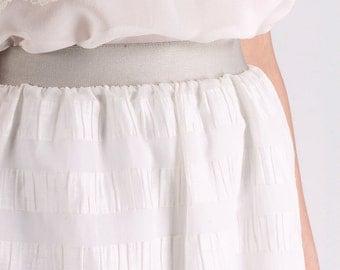 Degas Silver Skirt-Viviana Mori