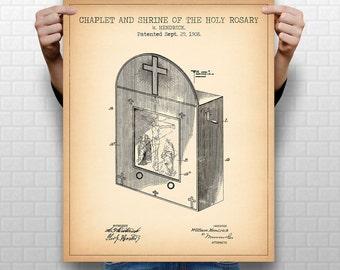 "8x10"" ""CHURCH"" Patent, Instant Download #1018, Vertical Patent Print, fits 8x10"" 11x14"" 16x20"" frame"