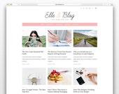 Elle & Blog Wordpress theme-Wordpress template- Feminine template - Responsive WordPress Theme - Fashion template - Wordpress blog theme