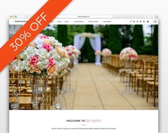 Springfield - Wedding template- Wordpress theme - Photography website - Responsive WordPress Theme - wordpress blog theme